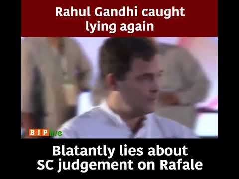 Rahul Gandhi Blatantly lies about SC judgement on Rafale