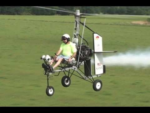 GYROPLANE STUNT Barnstorming low to the ground