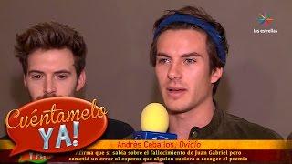 ¡Andrés Ceballos reconoce su error en los Latin Grammy! | Cuéntamelo YA!