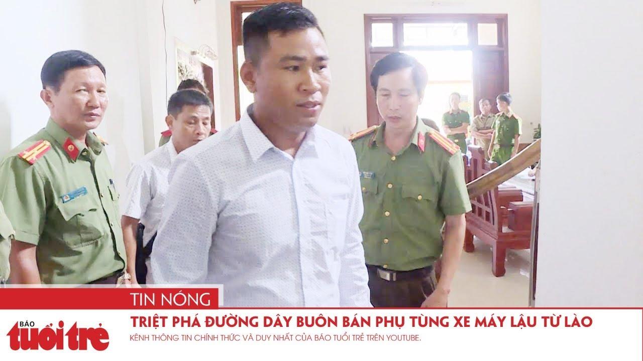Triệt phá đường dây buôn bán phụ tùng xe máy trái phép từ Lào về Việt Nam