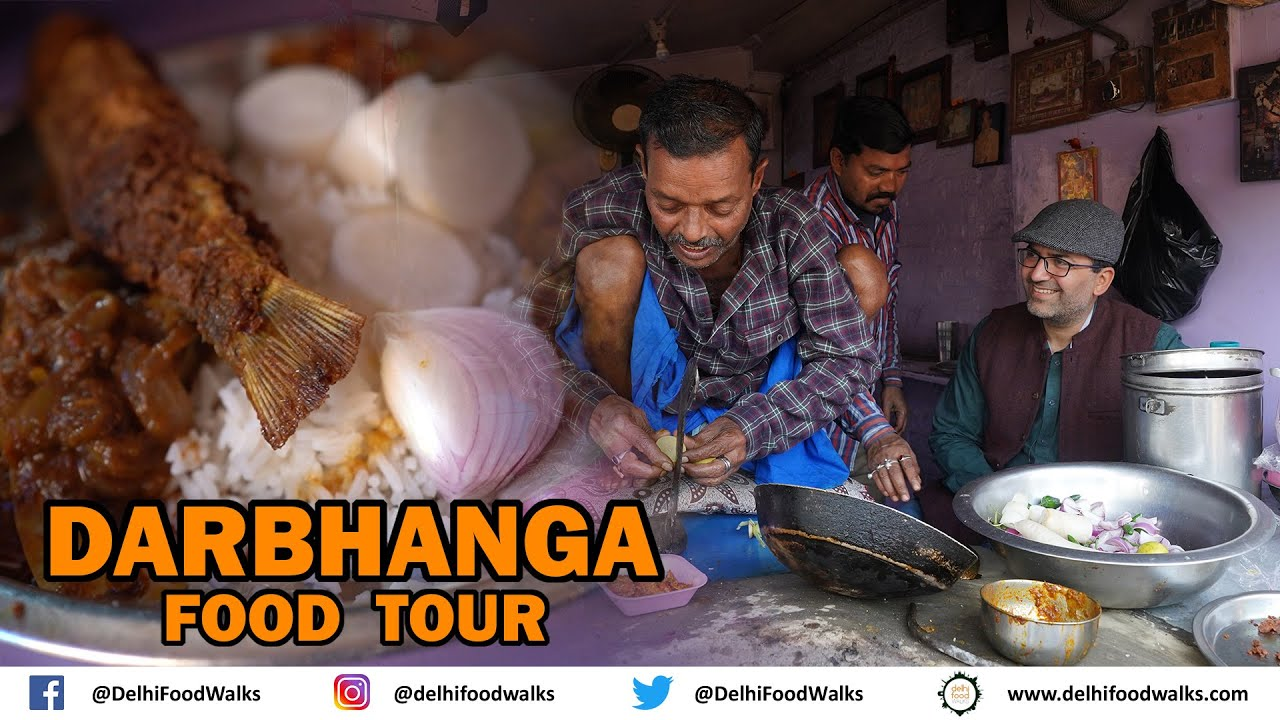 Download DARBHANGA FOOD Tour I UNIQUE Onion Pakoda I LOCAL fish & Meat भात  I ORANGE Rasgulla I KADHI Samosa