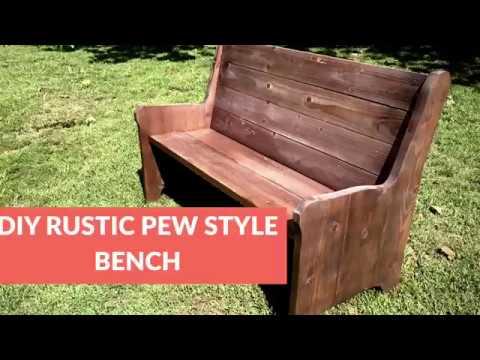 Diy rustic church pew style bench youtube diy rustic church pew style bench solutioingenieria Images