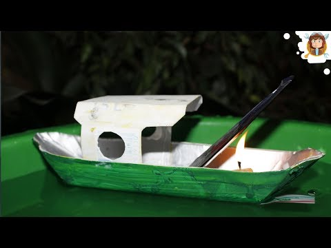 Barco a vapor caseiro (Pop Pop Boat)