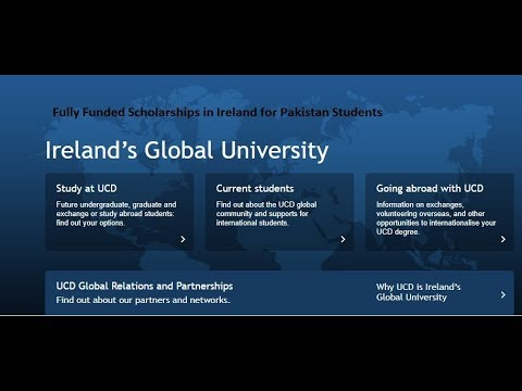 Fully Funded Scholarships in Ireland for Pakistani Student