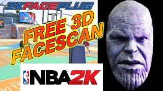 *FREE* THANOS 3D FACE SCAN *NBA 2K20/2K21* 2KFACEPLUG