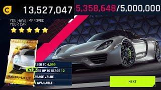 ASPHALT 9 | Opening 100 Porsche 918 Spyder packs & Test Drive