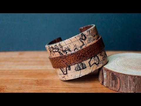 tuto bracelet map monde vintage fimo polymer clay cuff bracelet