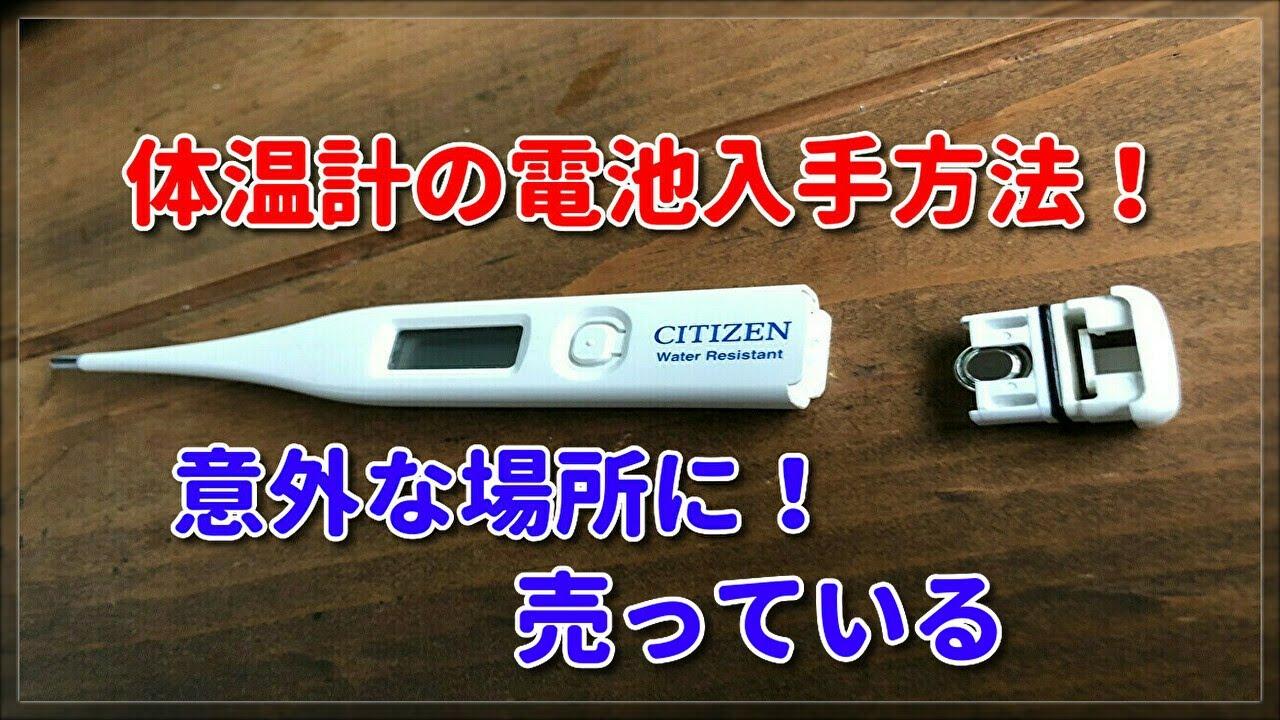 交換 方法 テルモ 体温計 電池 c202