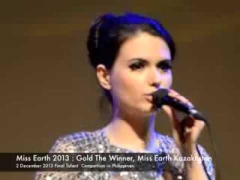 Мисс Земля Казахстан - Золотая медаль на конкурсе талантов Мисс Земля 2013