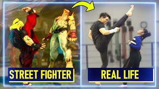 Expert Martial Artists RECREATE moves from Street Fighter V | Experts Try