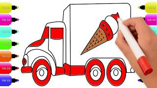 How to Draw and Color an Ice Cream Truck