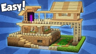 Minecraft: Advanced Starter House Tutorial - How to Build a House in Minecraft / Easy /