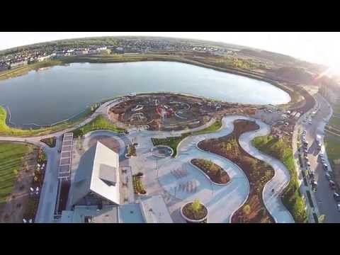 Drone over the new Central Park in Maple Grove MN