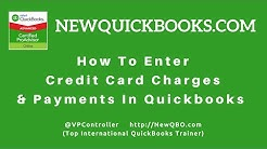 QuickBooks Pro Premier Desktop - how to enter credit card charges payments transactions