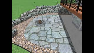 Patio and Boulder Wall