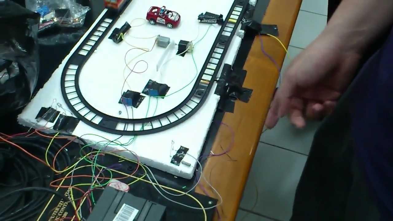 Hd Prototipe Palang Pembatas Kereta Api Otomatis Untar Plc Youtube