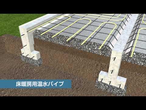 地球が冷暖房する家「地熱床システム」