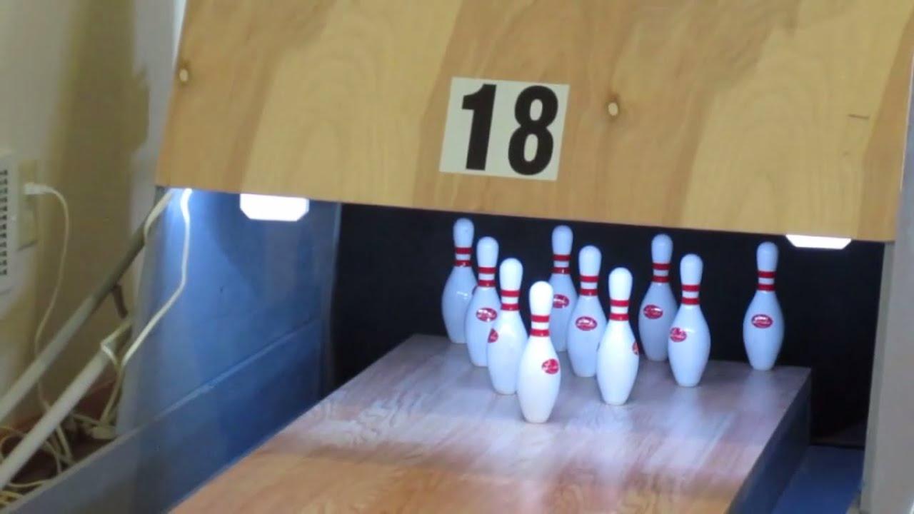 Mini basement bowling (10 frames) - YouTube