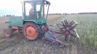 Самодельный комбайн, трактор, Т-16, жатка своими руками
