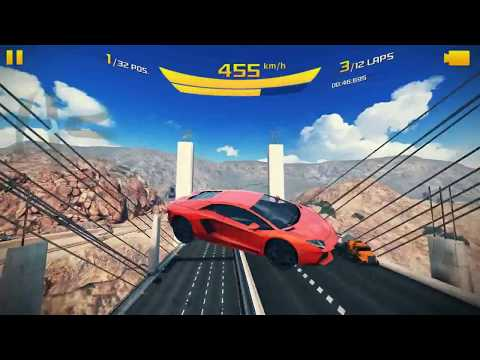 Asphalt 8: Lamborghini Aventador 32 Racers and 12 Laps Nevada [EPIC STUNTS MADE]