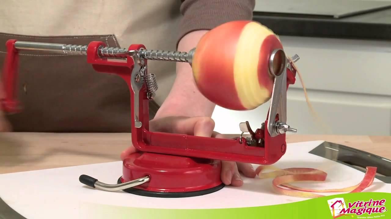 L 39 plucheur coupe pomme rouge youtube - Appareil pour couper les pommes de terre en rondelles ...