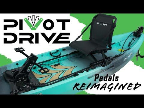 NuCanoe PIVOT Drive - Pedals Re-Imagined For Fishing Kayaks