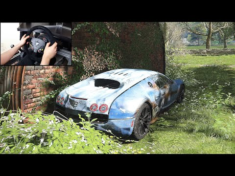 Rebuilding A Bugatti Veyron – Forza Horizon 4 (Steering Wheel + Shifter) Gameplay