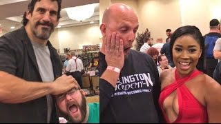 ROASTING FORMER WWE SUPERSTARS AT WRESTLING CONVENTION!