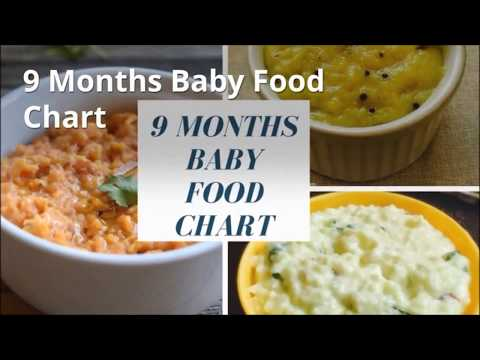9 Months Baby Food Chart | Indian Baby Food Recipes