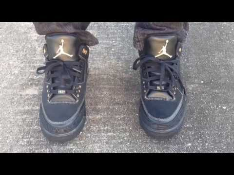 "Air Jordan 3 III Retro ""BHM"" ""Black History Month"" on feet"