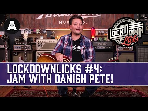 Jam Along With Danish Pete - Andertons LockDownLicks #4 (Blues Rock Loop In E)
