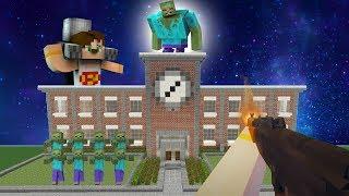 OKULA ZOMBİ BASKINI (Minecraft Zombi Rüyası)