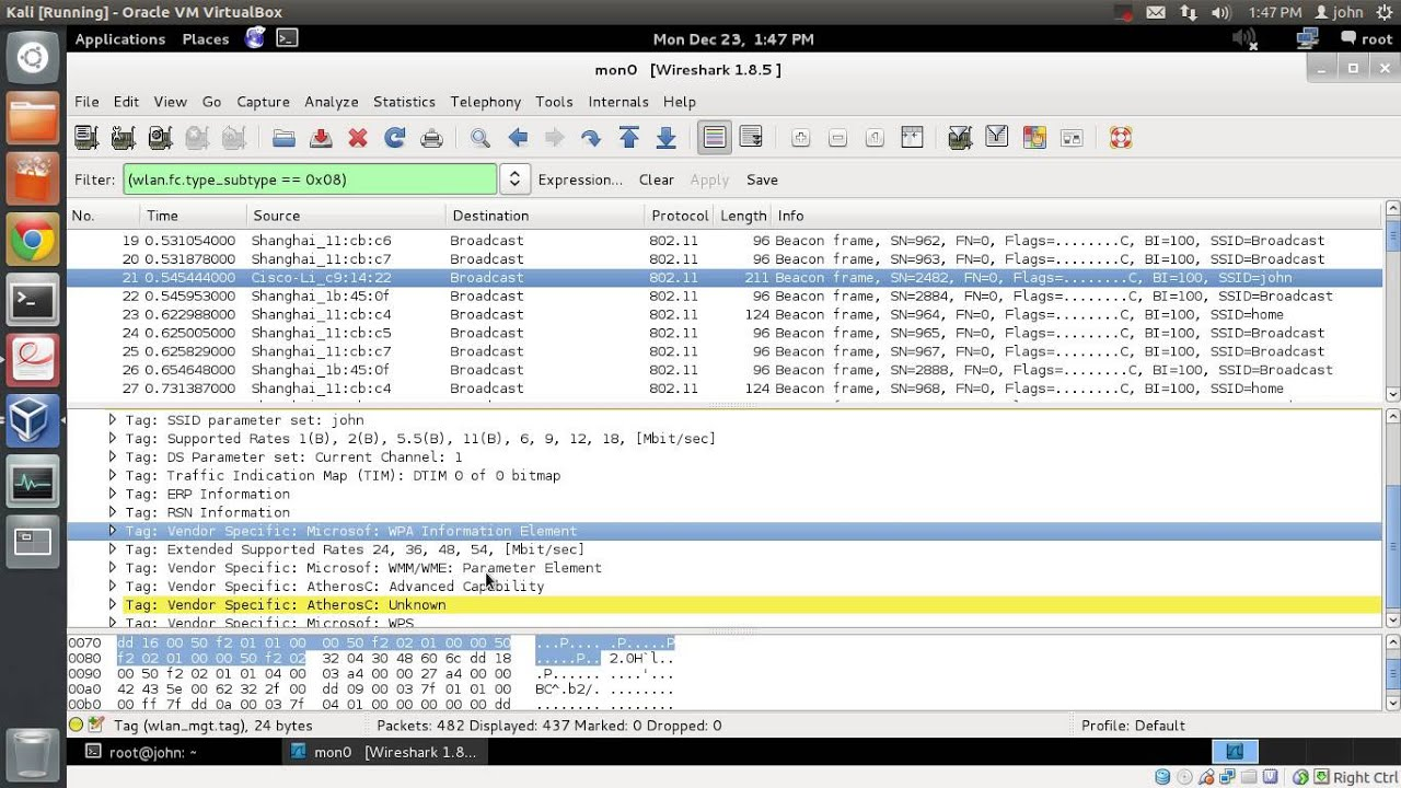 how to create filter in wireshark