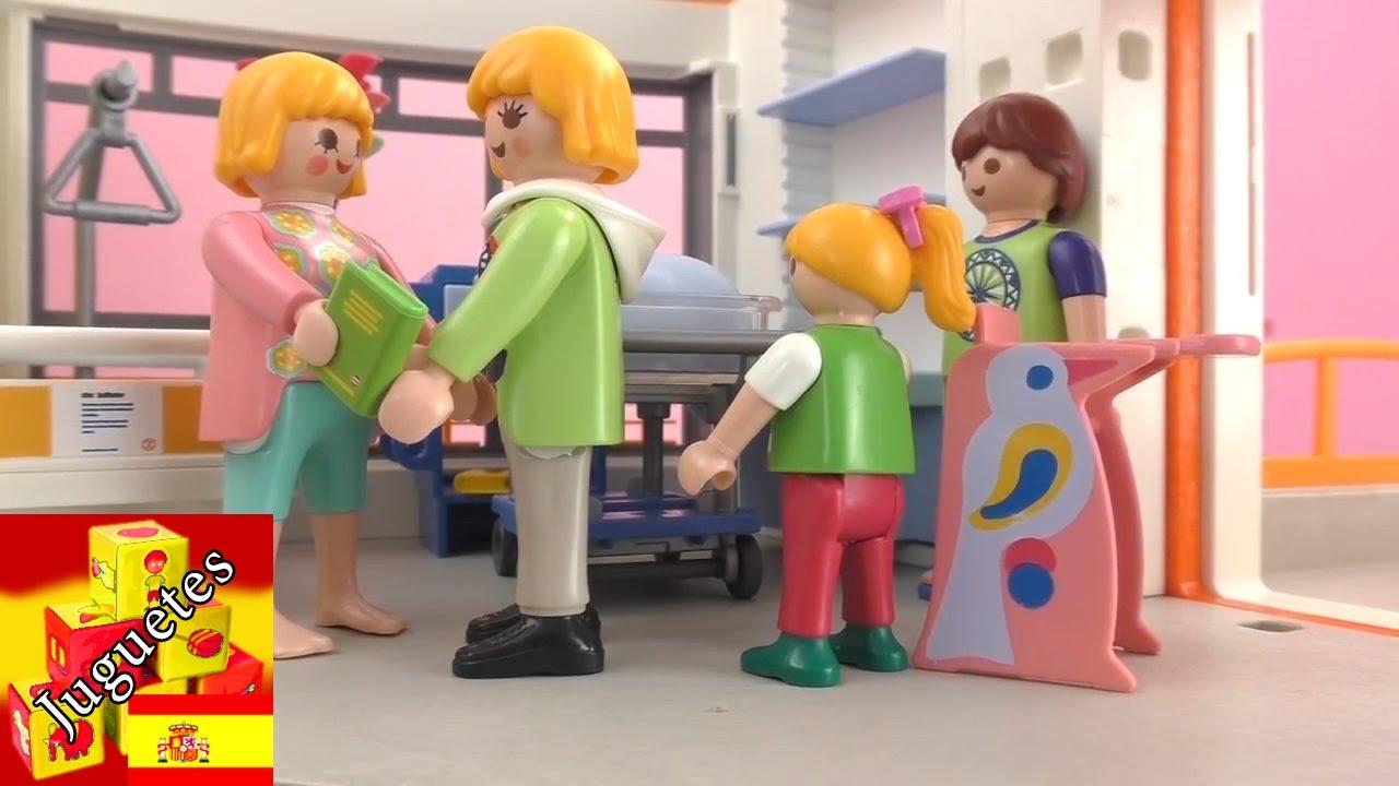 Playmobil pelicula visitando al nuevo beb playmobil for Hospital de playmobil