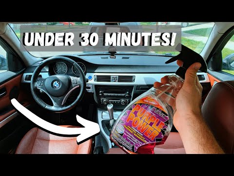 HOW TO DETAIL YOUR CAR INTERIOR IN UNDER 30 MINUTES!