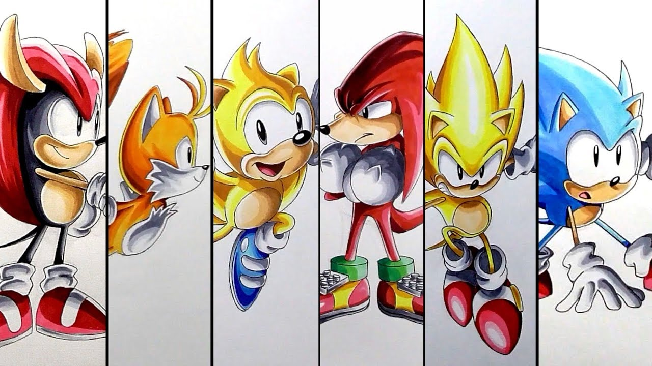 This is a picture of Canny Drawing Sonic Characters