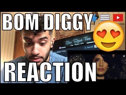 Zack Knight x Jasmin Walia - Bom Diggy (Official Music Video) REACTION!!!