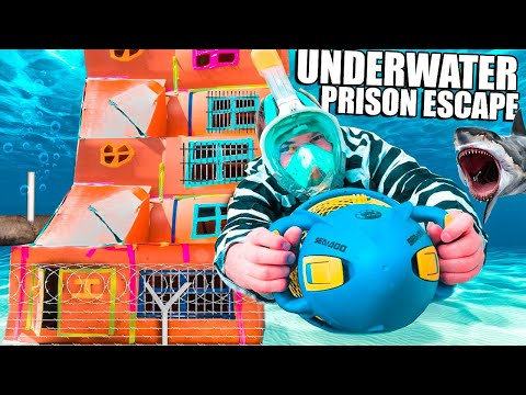 5 Story UNDERWATER BOX FORT Prison ESCAPE! The Movie