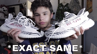 THE NEW FAKE YEEZY V2 ZEBRAS ARE EXACT COPIES AGAIN!!!