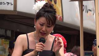 岩崎愛子・♪「高幡雨情」@2018 高幡不動参道七夕まつり