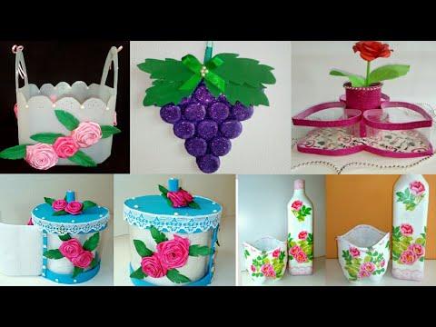 Diy 5 manualidades con reciclaje f cil y til easy - Ideas para el hogar ...
