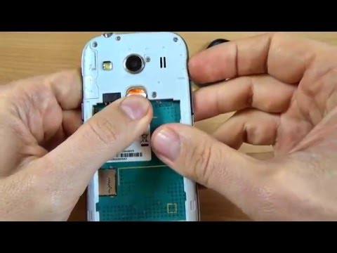 Samsung Galaxy Ace 4 - How to Insert SIM card and memory card