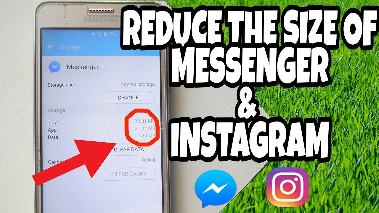 reduce the size of fb messenger and instagram save storage on your android phone youtube. Black Bedroom Furniture Sets. Home Design Ideas