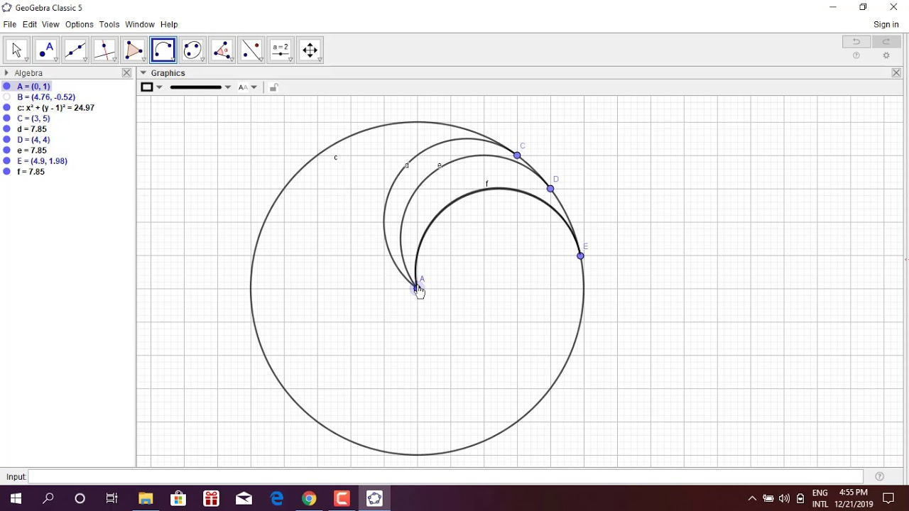 geogebra ball animation