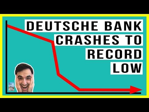 Deutsche Bank Stock Drops To RECORD LOW! ECB Will Stop Print