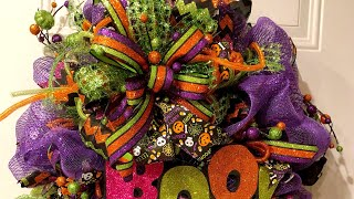 How to make a woodland ruffle Halloween Ghost wreath in white and purple