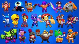 All Skins With Animation in Brawl Stars
