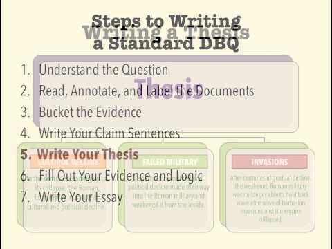 Видео Good thesis dbq essay