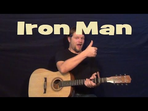Iron Man (Black Sabbath) Easy Strum Guitar Lesson Chords Licks TAB How to Play Tutorial