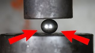Experiment The Mighty Bearing Ball VS Hydraulic Press | The Crusher thumbnail